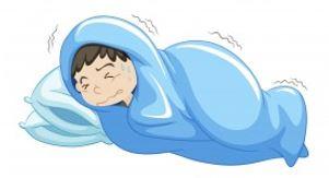 symptôme de la grippe enfant a froid